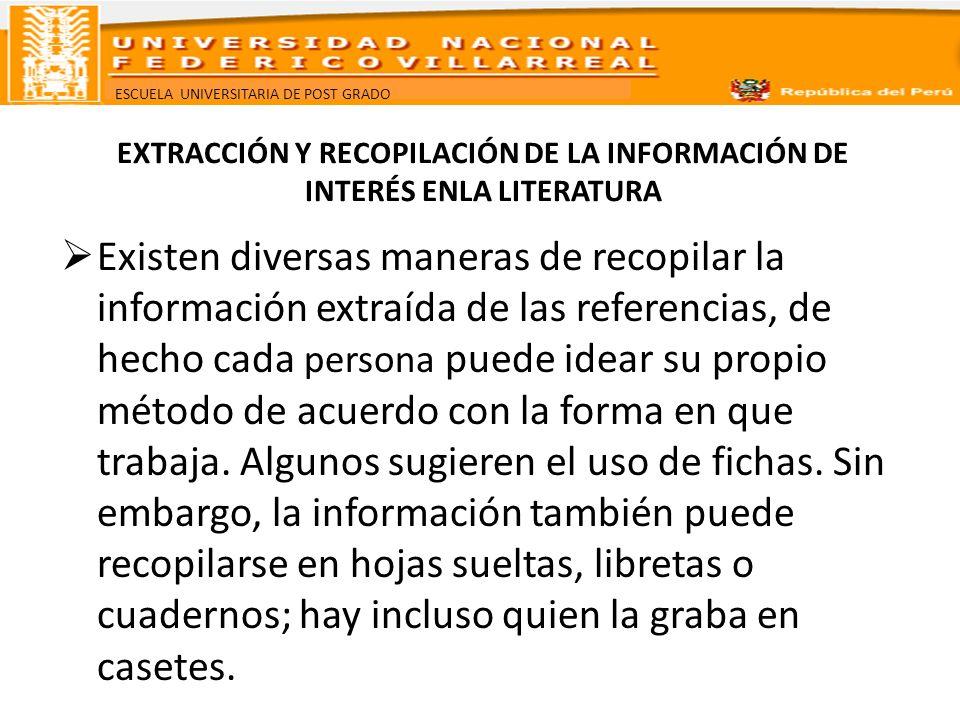 ESCUELA UNIVERSITARIA DE POST GRADO ¿CÓMO SE CONSTRUYE EL MARCO TEÓRICO.