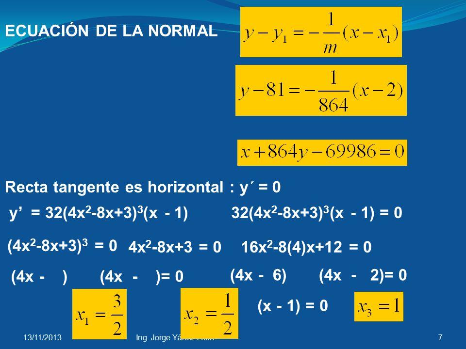 13/11/2013Ing. Jorge Yánez León17 Intervalos: x =