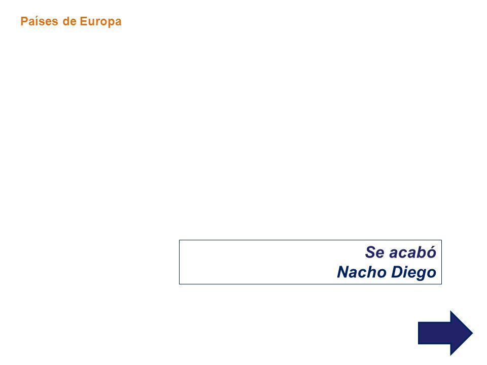 Se acabó Nacho Diego Países de Europa
