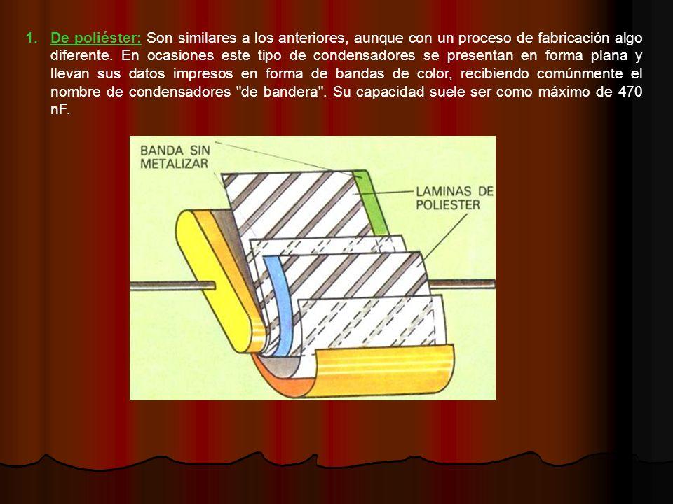 1.De poliéster: Son similares a los anteriores, aunque con un proceso de fabricación algo diferente.