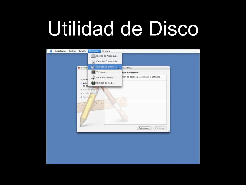 Utilidad de Disco