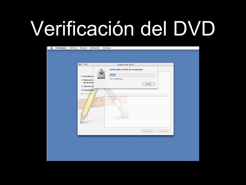 Verificación del DVD