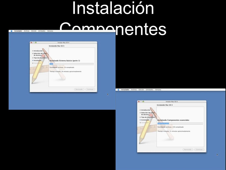 Instalación Componentes