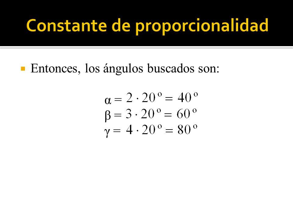 Entonces, los ángulos buscados son: α = β = γ =