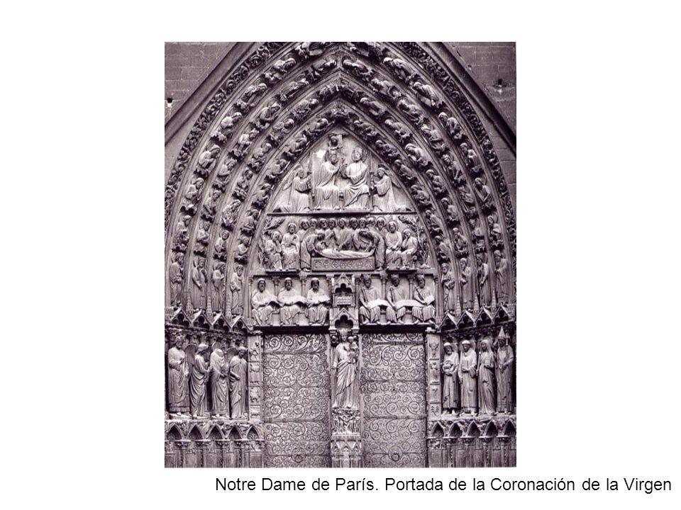 Notre Dame de París. Portada de la Coronación de la Virgen