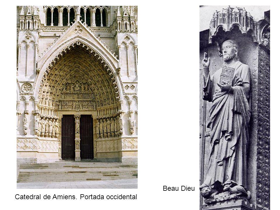 Beau Dieu Catedral de Amiens. Portada occidental