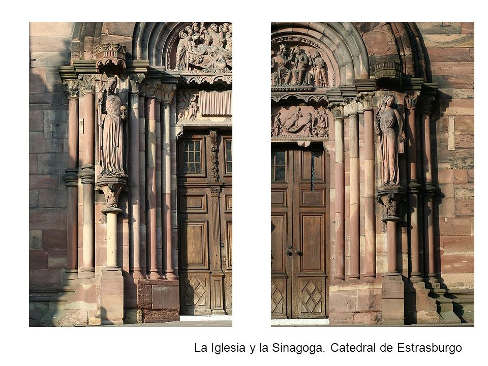 La Iglesia y la Sinagoga. Catedral de Estrasburgo