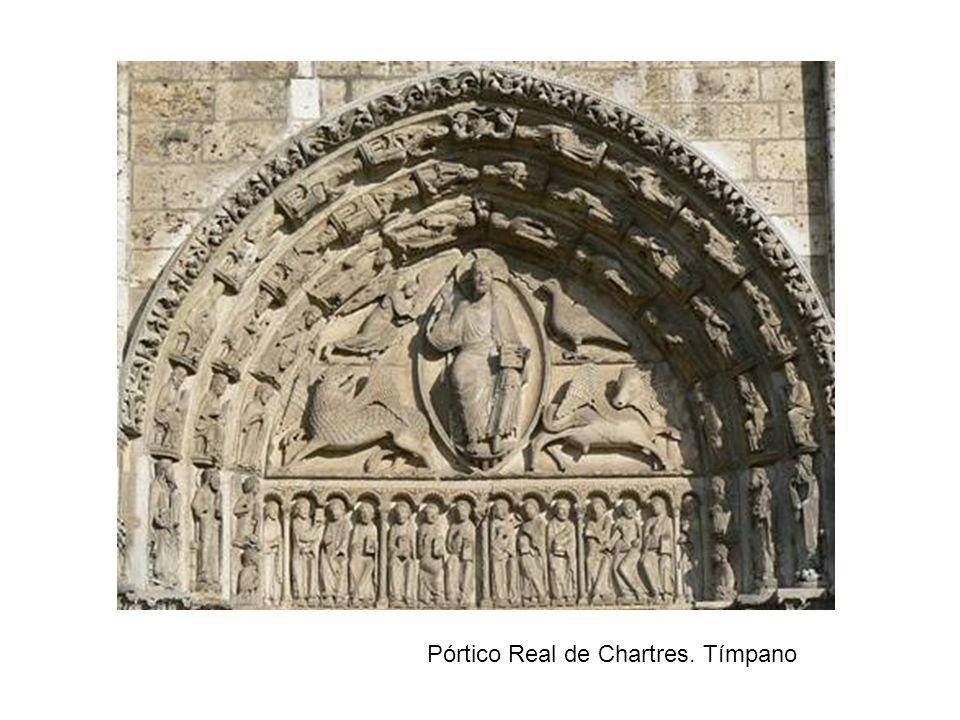 Catedral de Amiens. La Virgen Dorada (parteluz de la portada sur del crucero)