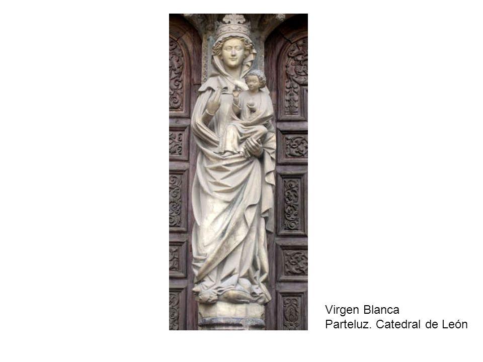 Virgen Blanca Parteluz. Catedral de León