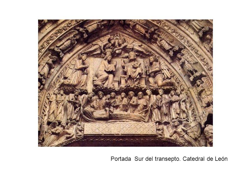 Portada Sur del transepto. Catedral de León