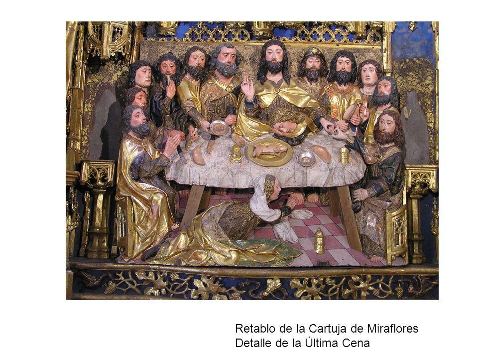 Retablo de la Cartuja de Miraflores Detalle de la Última Cena