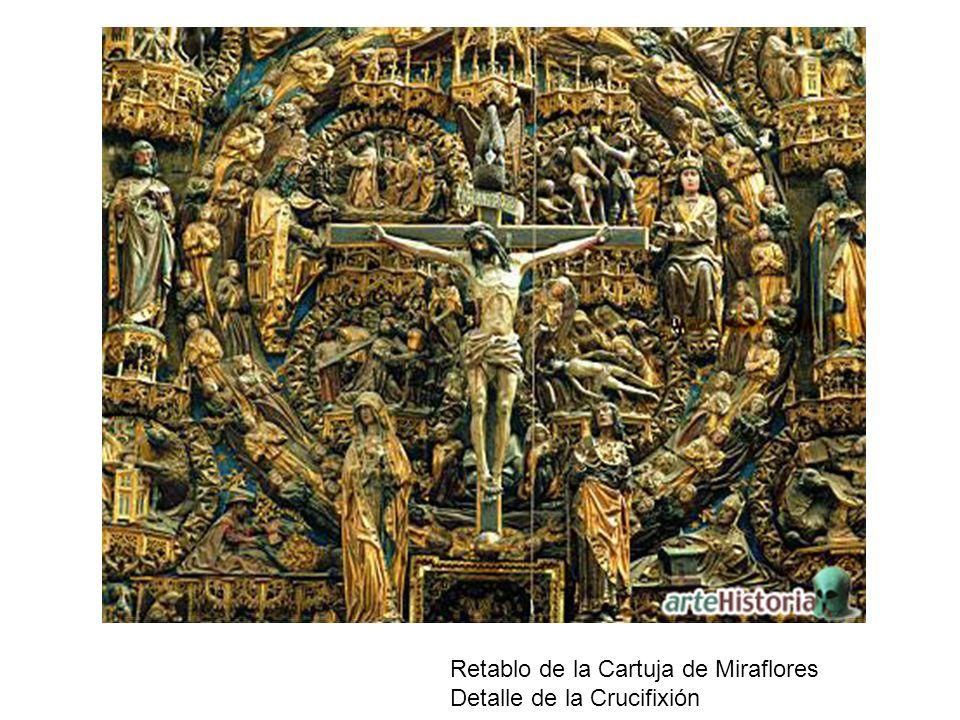 Retablo de la Cartuja de Miraflores Detalle de la Crucifixión
