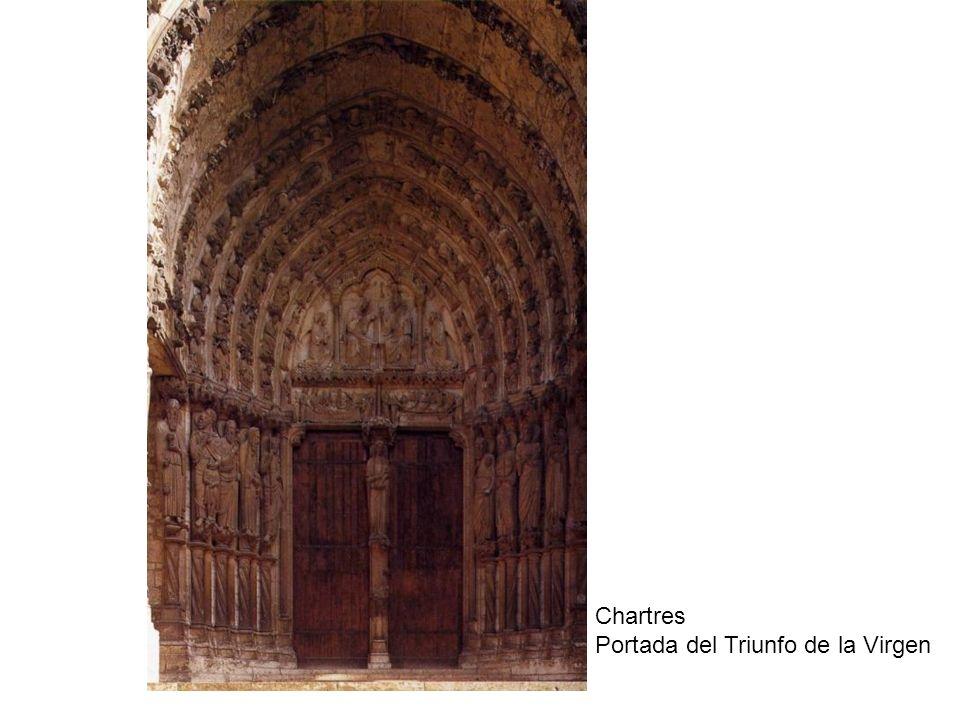 Chartres Portada del Triunfo de la Virgen