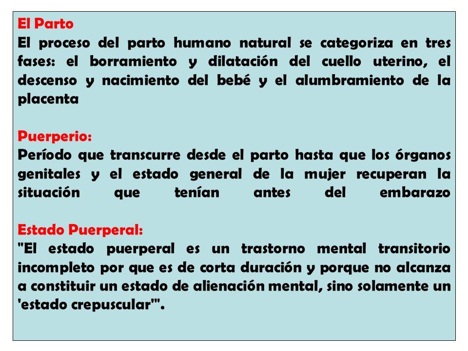 El Parto El proceso del parto humano natural se categoriza en tres fases: el borramiento y dilatación del cuello uterino, el descenso y nacimiento del