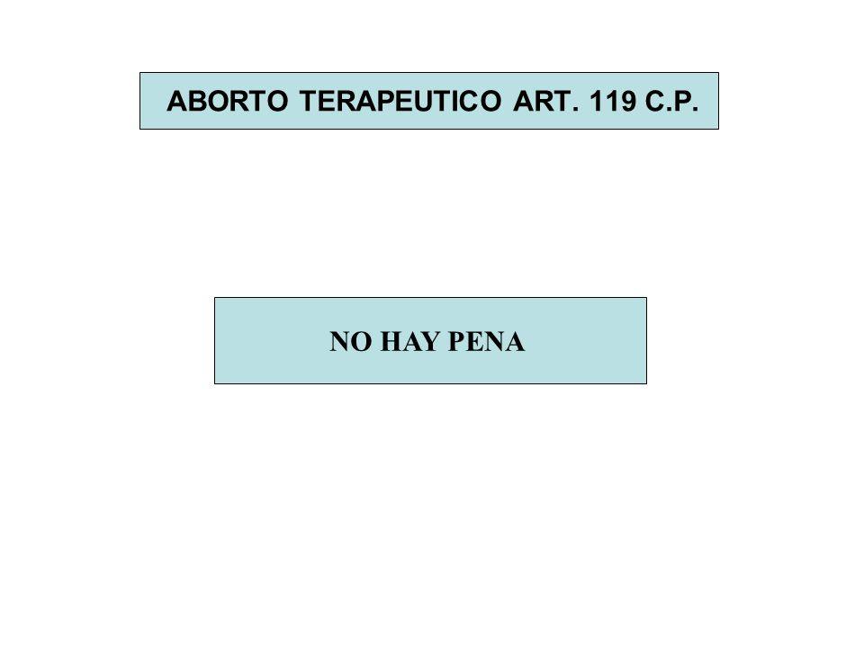 ABORTO TERAPEUTICO ART. 119 C.P. NO HAY PENA