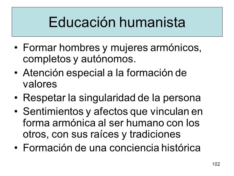 101 Humanismo Simboliza el reencuentro del hombre consigo mismo y la civilización La mayor crisis del mundo es lo humano Consecución de autorrealizaci