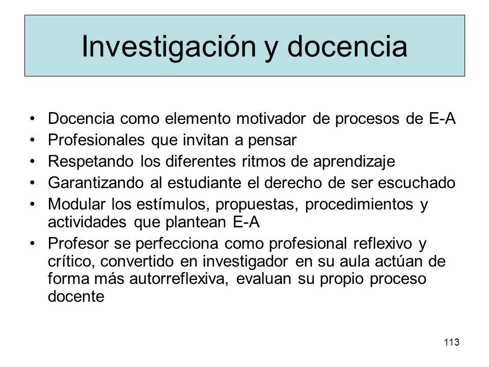 112 La investigación como parte del proceso docente educativo en cualquiera de los modelos: