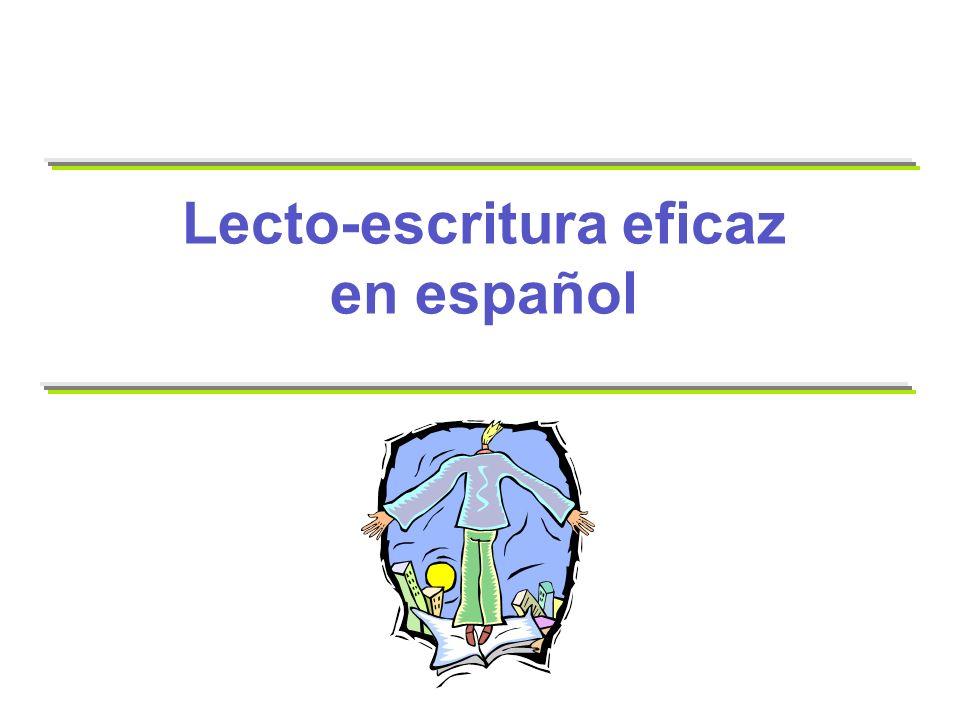 76 Fluidez en español Naturalmente, la fluidez varía dependiendo de qué tan conocidas sean las palabras para el lector.