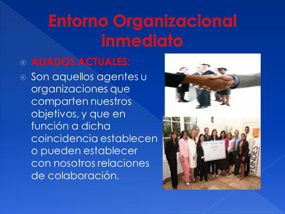 PROVEEDORES ACTUALES: Son aquellas personas o instituciones que nos proporcionan insumos (bienes o servicios), necesarios para que podamos desarrollar nuestras actividades.