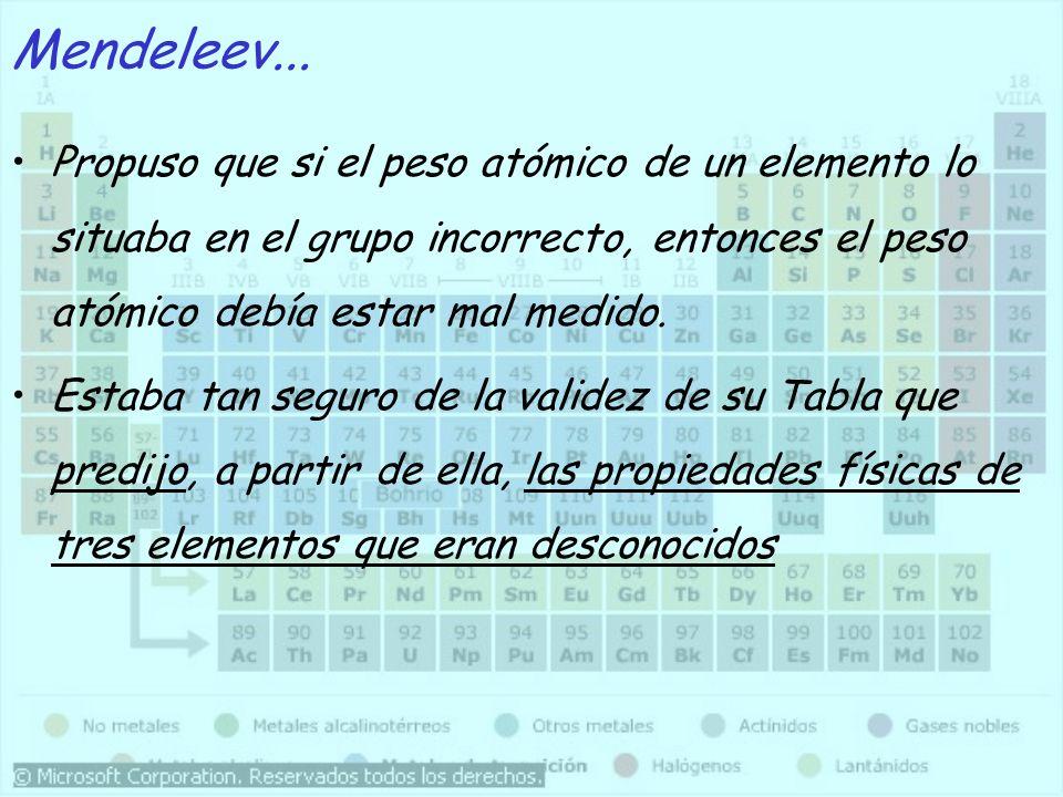 Tras el descubrimiento de estos tres elementos (Sc, Ga, Ge) entre 1874 y 1885, que demostraron la gran exactitud de las predicciones de Mendeleev, su Tabla Periódica fué aceptada por la comunidad científica.