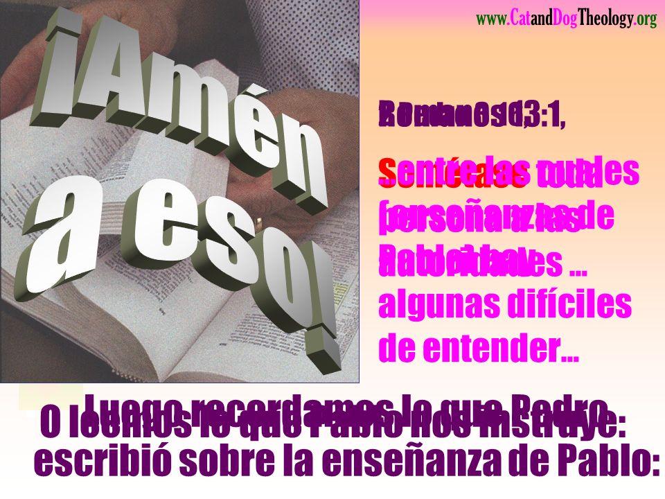 www.CatandDogTheology.org Quiero lo Saltar Mateo 28:18
