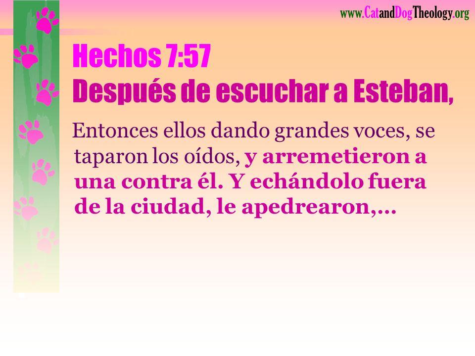 www.CatandDogTheology.org Esteban (Hechos 6:8), Lleno de la gracia y del poder de Dios. Hizo grandes maravillas y señales milagrosas entre la gente. E