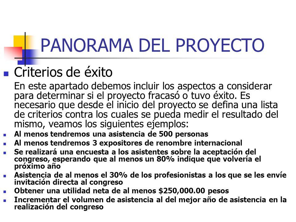PANORAMA DEL PROYECTO Requerimientos de Desarrollo y Operación Aquí describiremos, de una forma muy general, los requerimientos para llevar a cabo o d