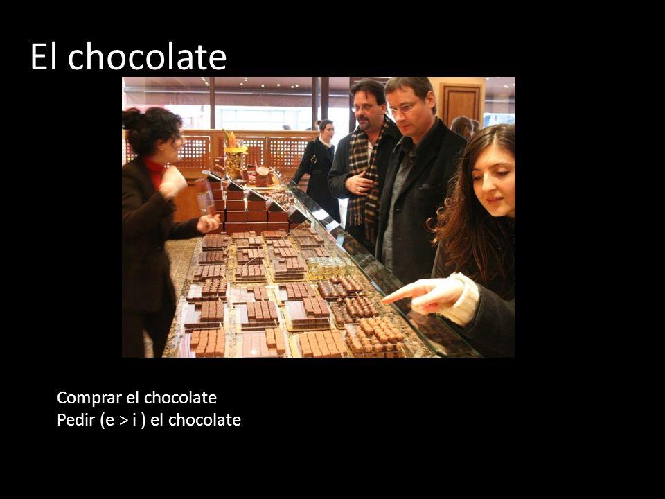 El chocolate Comprar el chocolate Pedir (e > i ) el chocolate