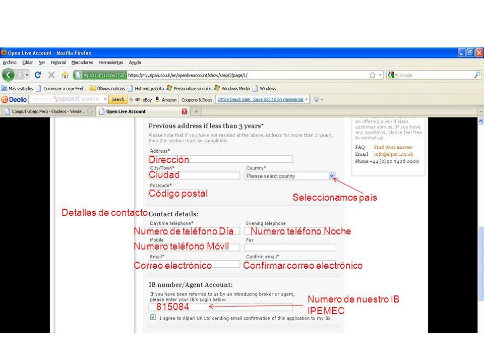 Ingresamos código de confirmación que se ha enviado a nuestro correo Escogemos una contraseña de teléfono de 4 caracteres Click para continuar