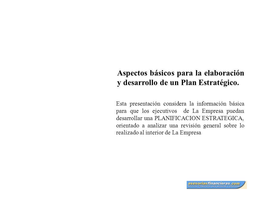 Aspectos básicos para la elaboración y desarrollo de un Plan de Negocios Tabla de contenido 1.