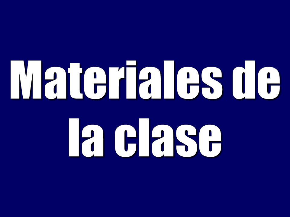Materiales de la clase