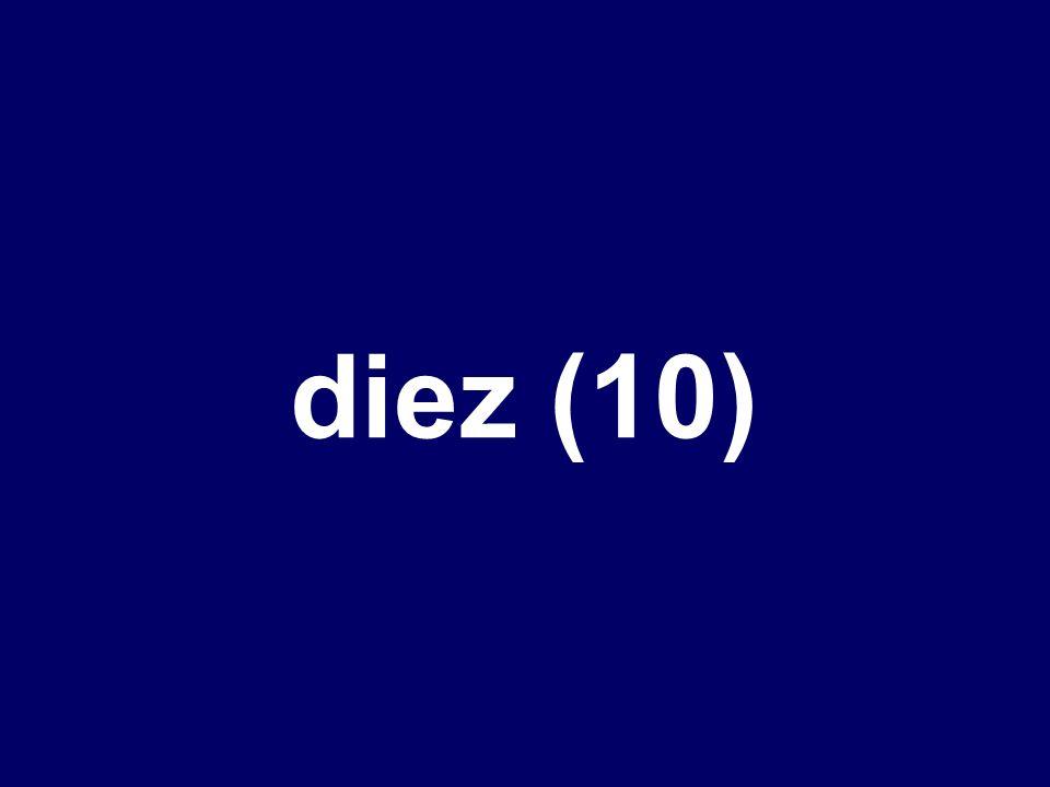 En México, la nota más alta es ___.