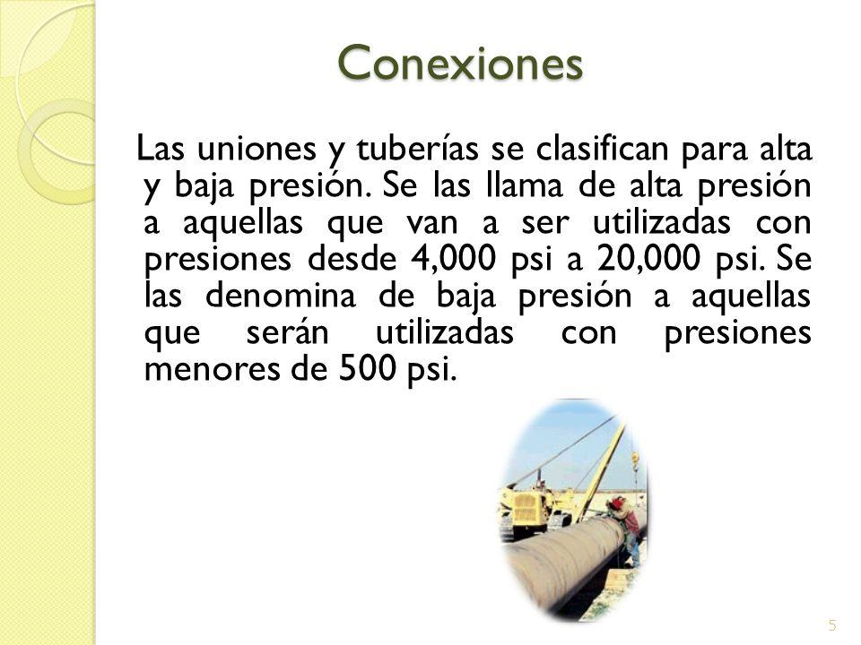Conexiones Conexiones Las uniones de alta y baja presión a veces son similares pero no son iguales.