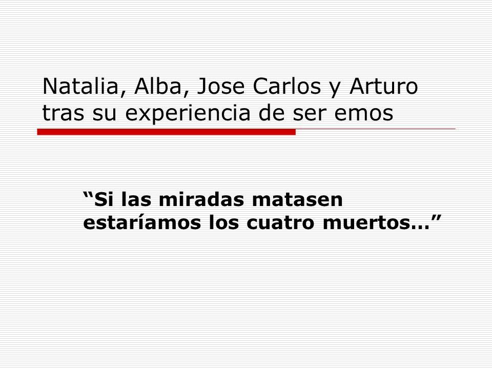 Natalia, Alba, Jose Carlos y Arturo tras su experiencia de ser emos Si las miradas matasen estaríamos los cuatro muertos…