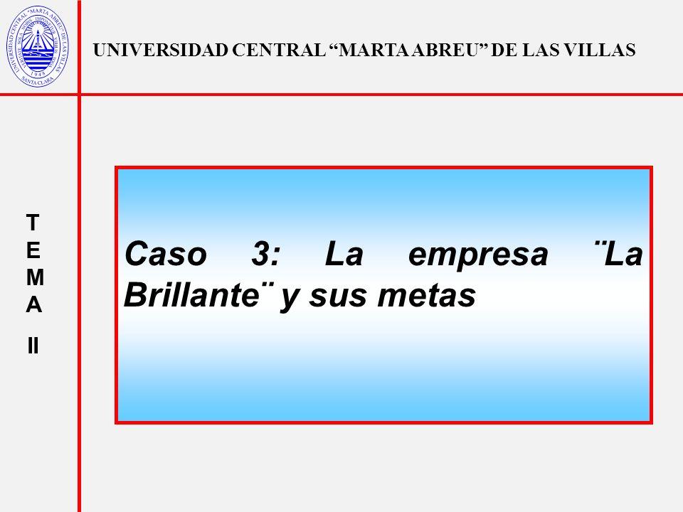 UNIVERSIDAD CENTRAL MARTA ABREU DE LAS VILLAS T E M A II Alternativa Atributos VA N TIR No.de Trabajadores Ventas (MM) SO 2 (Ton) A10015700400.02 B20025700600.005 C10020400250.04 D200302000700.0028 E250251501000.002 HOMOGEINIZACIÓN DE LAS DIRECCIONES DE LOS OBJETIVOS