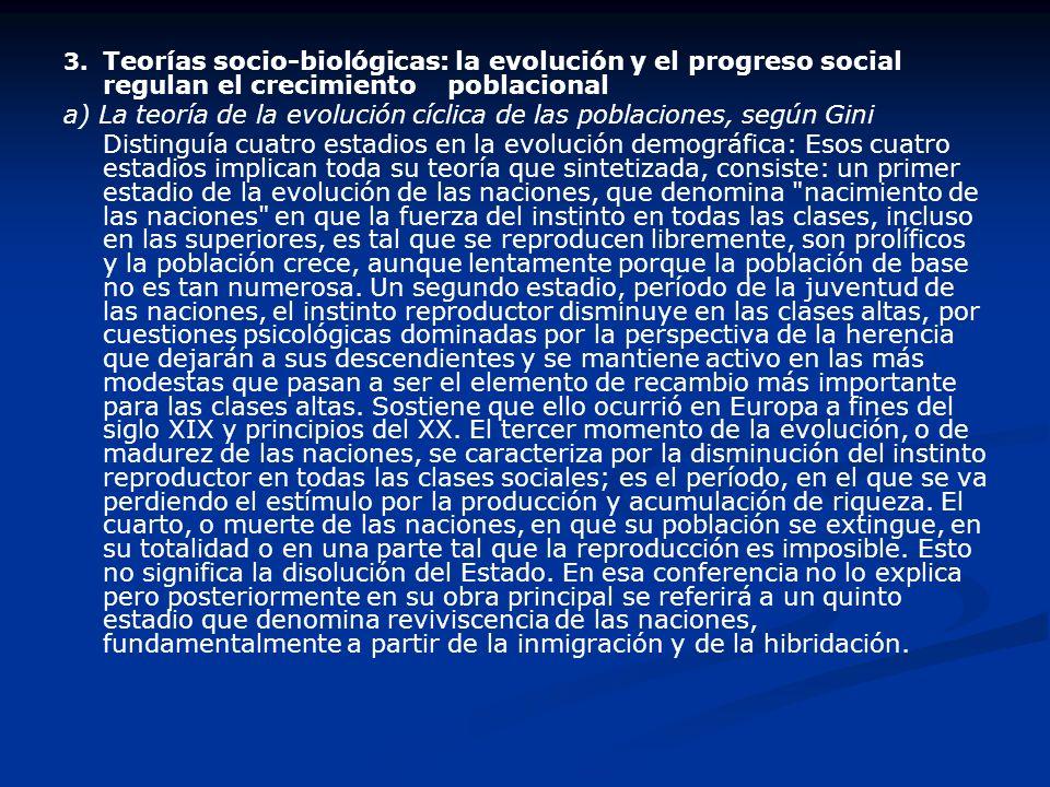 b)Teoría de la población óptima o del espacio cualificado La teoría del óptimo considera que existe una cantidad de población determinada, con la cual