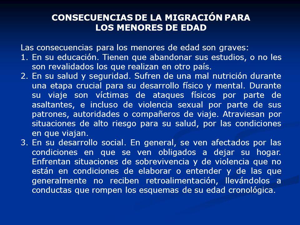 LA CONDICIÓN DE LAS MUJERES MIGRANTES 1.Se emplea en trabajos que se prestan a la violación de sus derechos humanos. Los patrones escapan frecuentemen