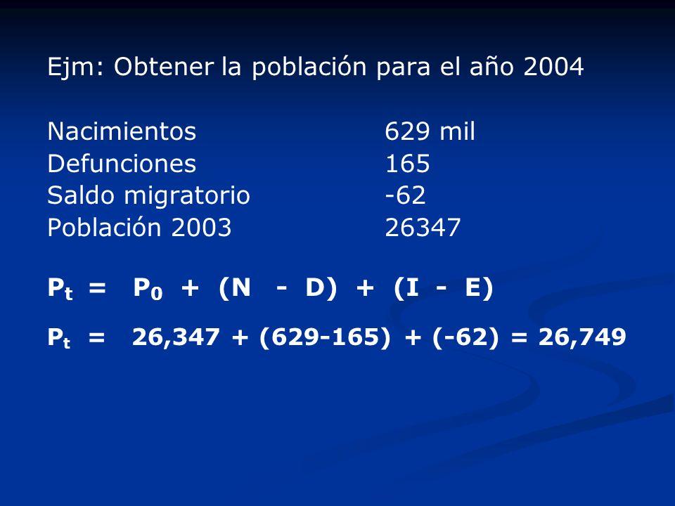 CÁLCULO DEL CRECIMIENTO POBLACIONAL Tal como explicamos antes, la población P crece en virtud de dos cantidades: (N-D) e (I-E). Se denomina crecimient
