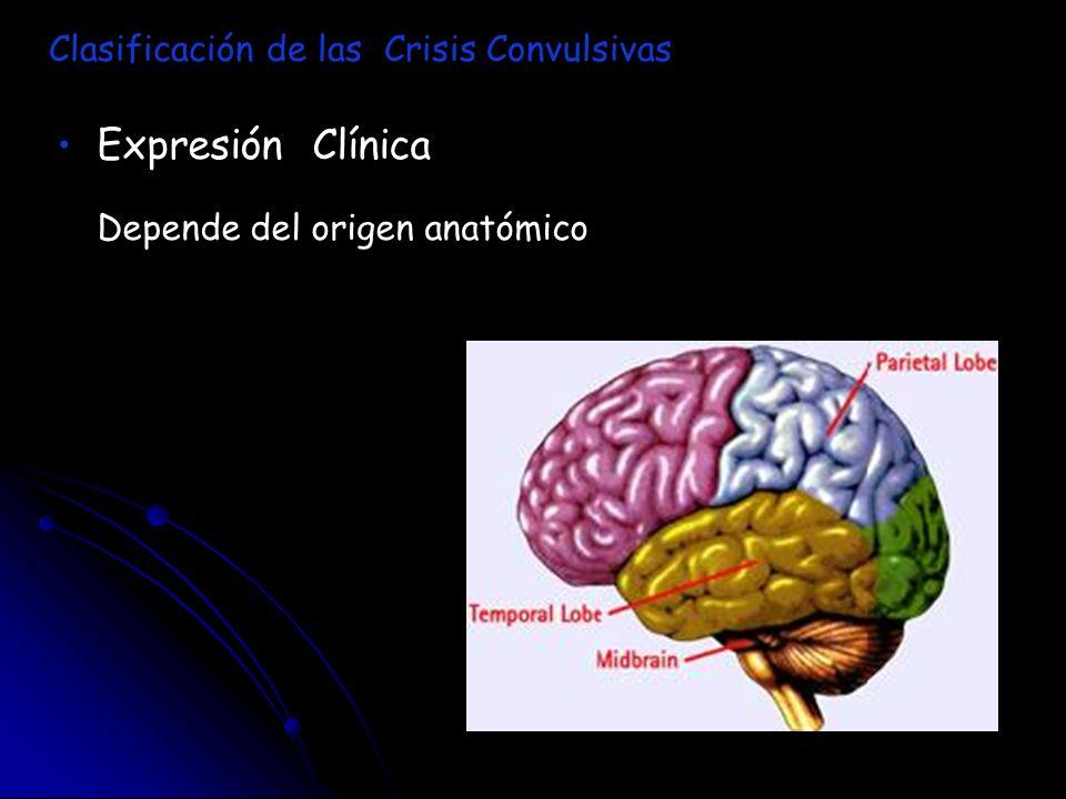 Expresión Clínica Depende del origen anatómico