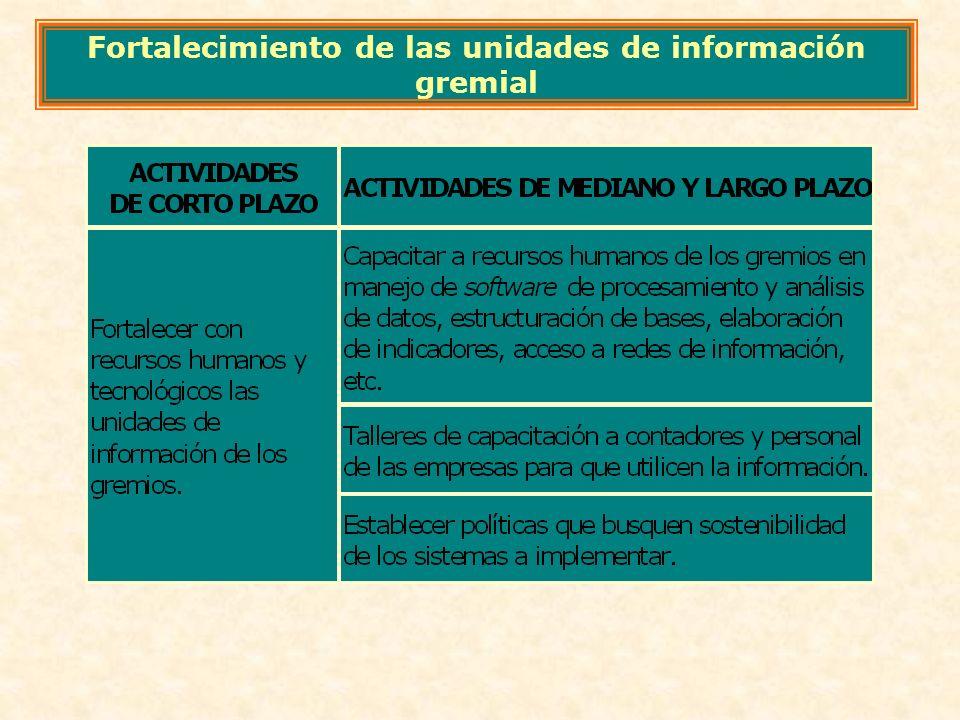 Fortalecimiento de las unidades de información gremial