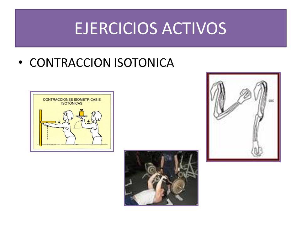 EJERCICIOS ACTIVOS CONTRACCION ISOTONICA