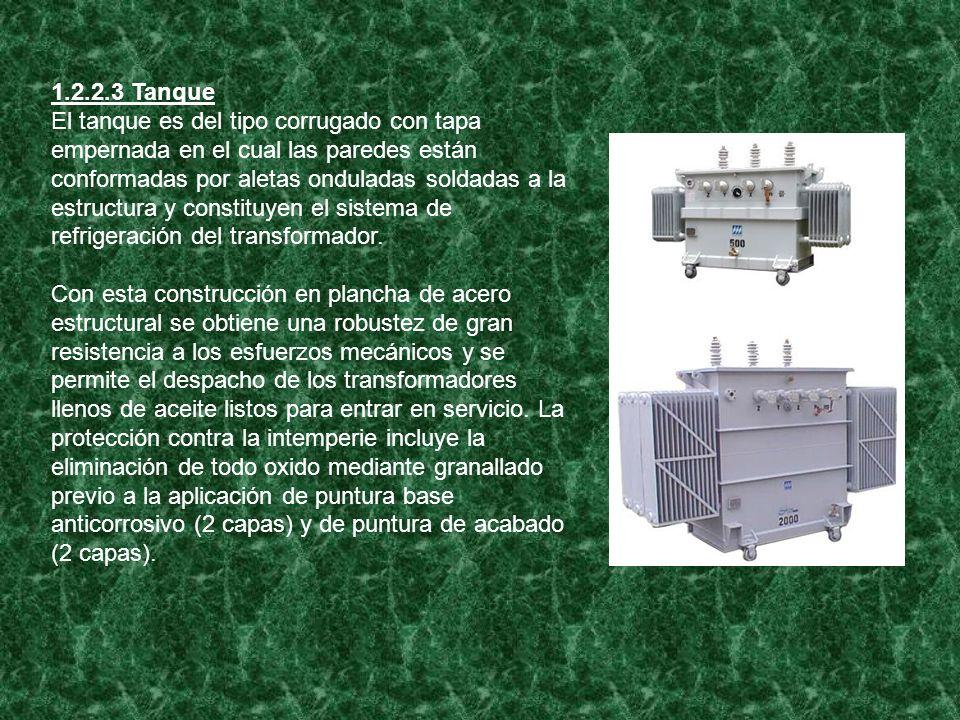 1.2.2.4 Aceite Es mineral constituyendo el elemento aislante y refrigerante del transformador.