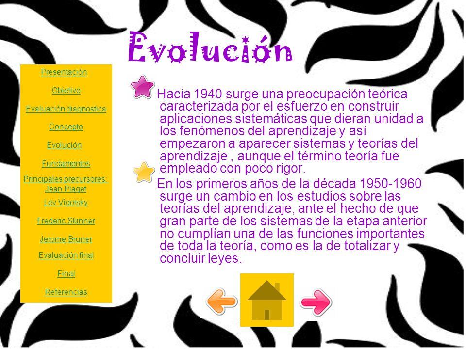 Evolución Hacia 1940 surge una preocupación teórica caracterizada por el esfuerzo en construir aplicaciones sistemáticas que dieran unidad a los fenóm