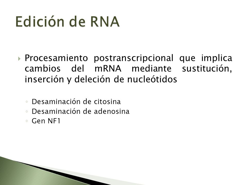 Procesamiento postranscripcional que implica cambios del mRNA mediante sustitución, inserción y deleción de nucleótidos Desaminación de citosina Desam