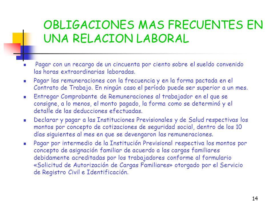 13 2º DURANTE LA RELACION LABORAL Obligaciones - Más de un trabajador, confeccionar, en conjunto «Certificado para la Obtención de Credencial de Salud