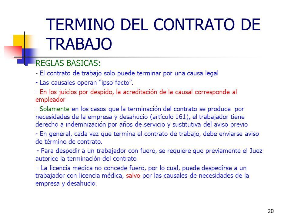 19 Al producirse el rompimiento del vínculo laboral, surgen derechos y obligaciones para las partes involucradas. El debido y oportuno cumplimiento de