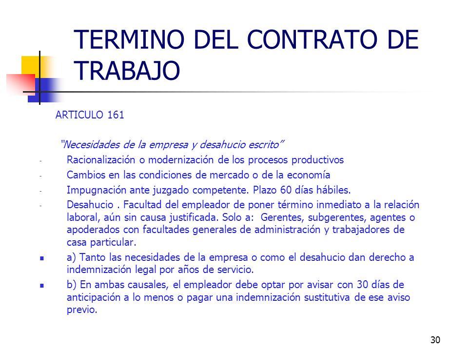 29 ARTICULO 160 N° 6 El perjuicio material causado intencionalmente en las instalaciones, maquinarias, herramientas, útiles de trabajo, productos o me