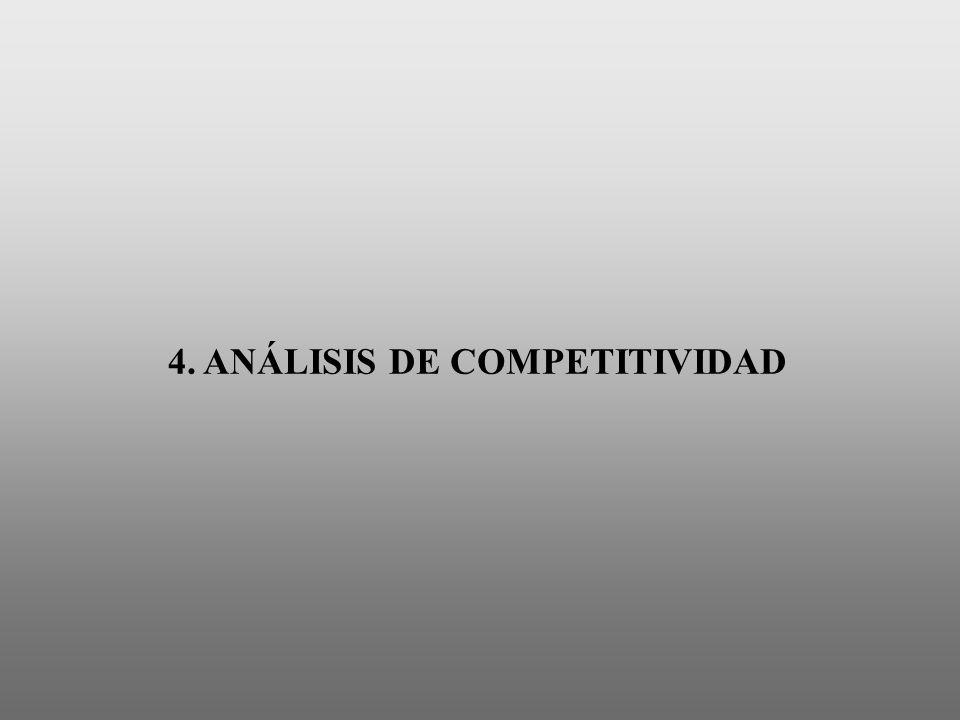 4. ANÁLISIS DE COMPETITIVIDAD