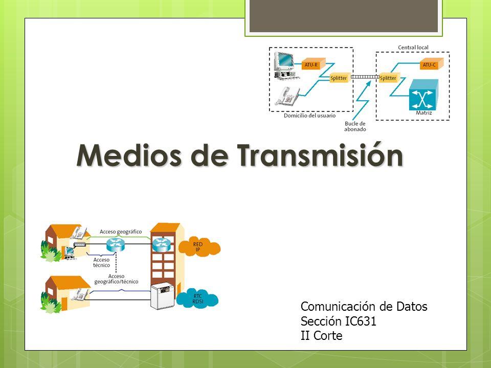 Medios de Transmisión Comunicación de Datos Sección IC631 II Corte