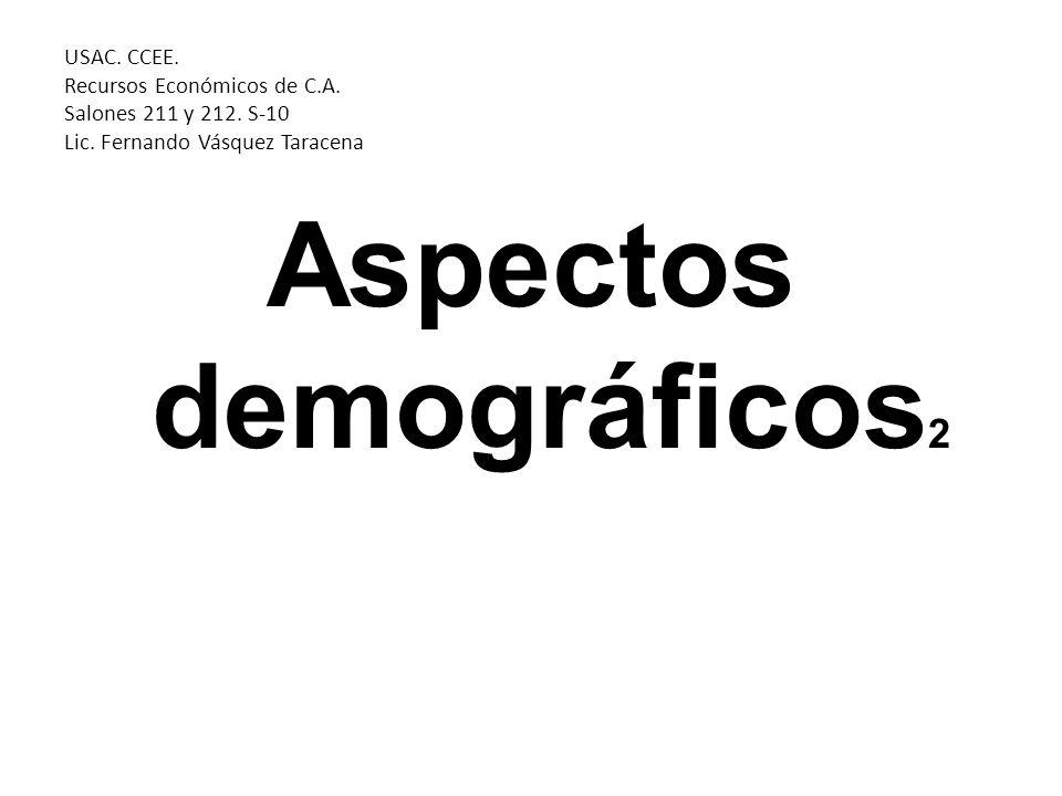 Estructura ocupacional Población económicamente inactiva (PEI): personas de 7 años y mas de edad que no tiene ocupación pero tampoco buscan activamente empleo.